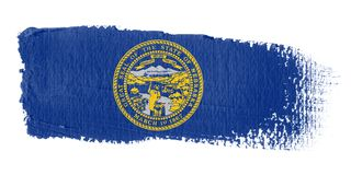 Brushstroke Flag Nebraska Royalty Free Stock Photo