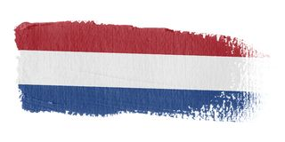 Brushstroke Flag Netherlands. Brushstroke-flag made to the computer Royalty Free Stock Images