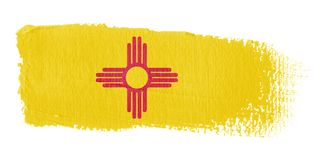 Brushstroke Flag New Mexico Stock Images