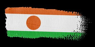 Brushstroke Flag Niger Royalty Free Stock Image