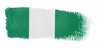 Brushstroke Flag Nigeria Stock Photo
