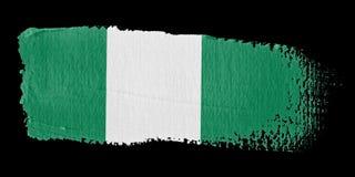 Brushstroke Flag Nigeria Royalty Free Stock Image