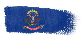 Brushstroke Flag North Dakota Royalty Free Stock Images