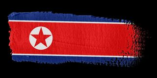 Brushstroke Flag North Korea Royalty Free Stock Photos
