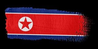 Brushstroke Flag North Korea Royalty Free Stock Photos