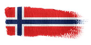 Brushstroke Flag Norway. Brushstroke-flag made to the computer Royalty Free Stock Photo