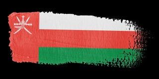 Brushstroke Flag Oman Stock Image
