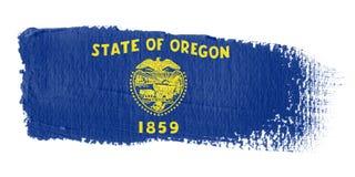 Brushstroke Flag Oregon Stock Image