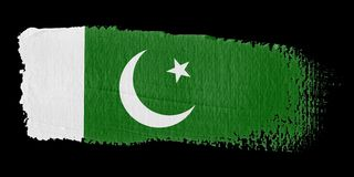 Brushstroke Flag Pakistan Stock Photos