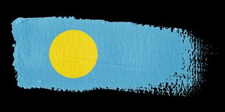 Brushstroke Flag Palau Stock Photos