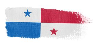 Brushstroke Flag Panama Royalty Free Stock Photo