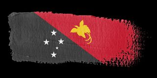 Brushstroke Flag Papua New Guinea Royalty Free Stock Images