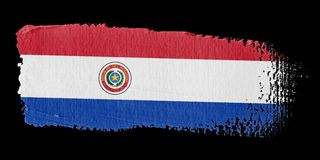 Brushstroke Flag Paraguay Royalty Free Stock Images