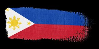 Brushstroke Flag Philippines Royalty Free Stock Photo
