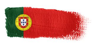 Brushstroke Flag Portugal Royalty Free Stock Photos