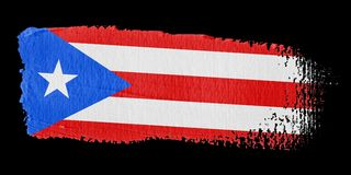 Brushstroke Flag Puerto Rico Stock Photography