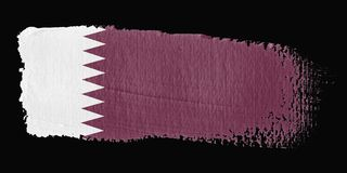 Brushstroke Flag Qatar Stock Photos