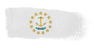 Brushstroke Flag Rhode Island Stock Images