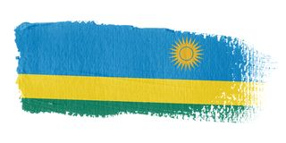 Brushstroke Flag Rwanda Royalty Free Stock Photo