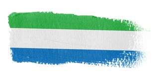 Brushstroke Flag Sierra Leone Stock Image