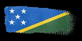 Brushstroke Flag Solomon Islands Royalty Free Stock Photos