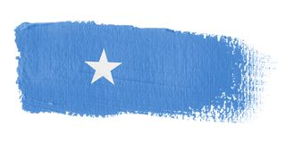Brushstroke Flag Somalia Royalty Free Stock Photos