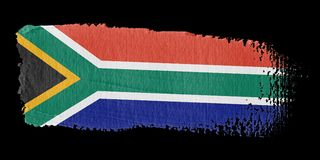 Brushstroke Flag South Africa Stock Photos