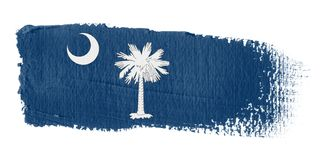 Brushstroke Flag South Carolina. Brushstroke-flag made to the computer Royalty Free Stock Photo
