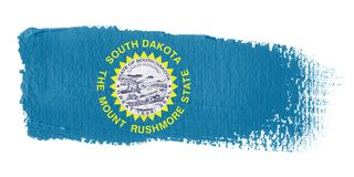 Brushstroke Flag South Dakota Royalty Free Stock Images