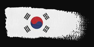Brushstroke Flag South Korea Royalty Free Stock Image