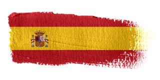 Brushstroke Flag Spain. Brushstroke-flag made to the computer Royalty Free Stock Images