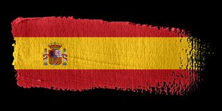 Brushstroke Flag Spain. Brushstroke-flag made to the computer Royalty Free Stock Photography