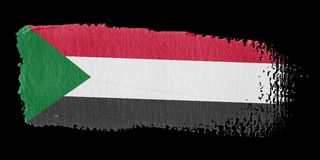Brushstroke Flag Sudan Royalty Free Stock Photos