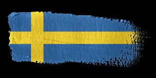 Brushstroke Flag Sweden Royalty Free Stock Photo