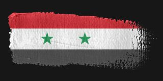 Brushstroke Flag Syria Royalty Free Stock Photos
