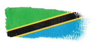 Brushstroke Flag Tanzania Royalty Free Stock Images