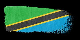 Brushstroke Flag Tanzania Royalty Free Stock Image