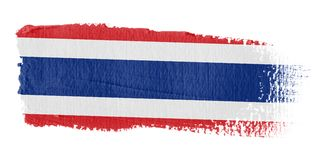 Brushstroke Flag Thailand. Brushstroke-flag made to the computer Royalty Free Stock Photo