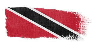 Brushstroke Flag Trinidad and Tobago Royalty Free Stock Photography