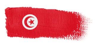Brushstroke Flag Tunisia Stock Photos