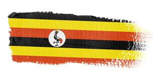 Brushstroke Flag Uganda Royalty Free Stock Photos