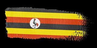 Brushstroke Flag Uganda Stock Image