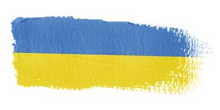 Brushstroke Flag Ukraine Royalty Free Stock Photography