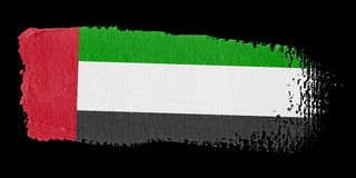 Brushstroke Flag United Arab Emirates Stock Images