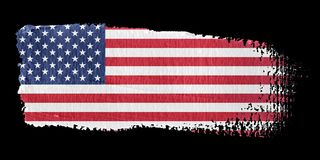 Brushstroke Flag United States Stock Images