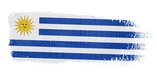 Brushstroke Flag Uruguay Royalty Free Stock Photos