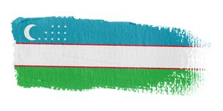 Brushstroke Flag Uzbekistan Royalty Free Stock Photography
