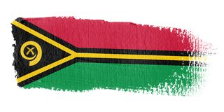 Brushstroke Flag Vanuatu Royalty Free Stock Image