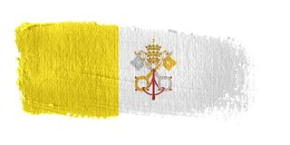 Brushstroke Flag Vatican City Royalty Free Stock Photos