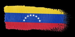 Brushstroke Flag Venezuela Stock Photo